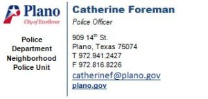 Plano Neighborhood Police Unit