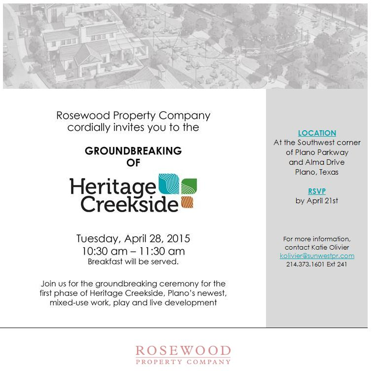 Heritage  Creekside Groundbreaking