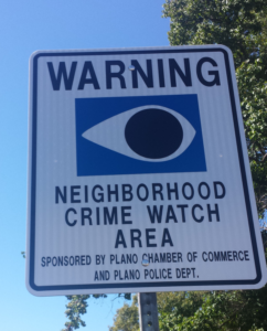 New DNE HOA Crimewatch Signs